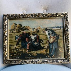 "Antique  ~ Cross stitched arts  -""Country side"""